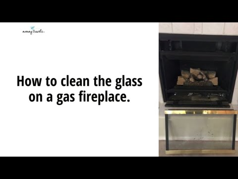 How to clean the glass on a gas fireplace.