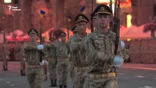 Перша репетиція військового параду до Дня Незалежності