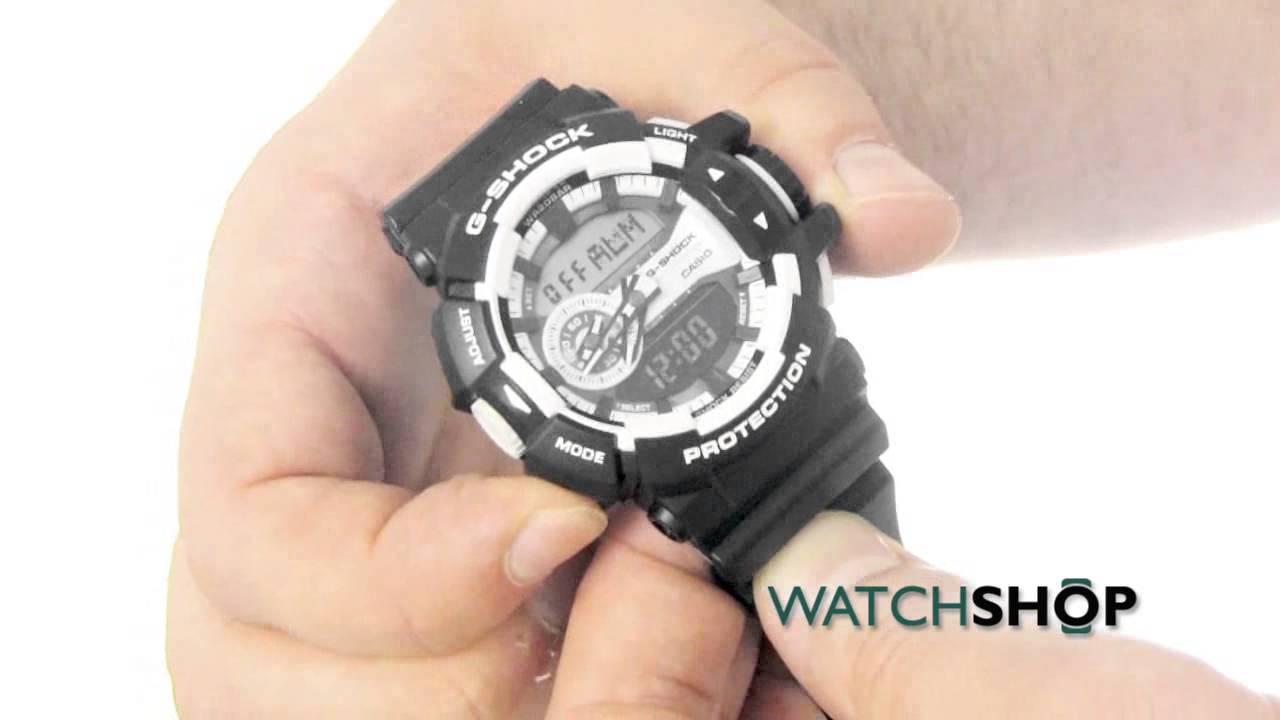 119ab1b894a6 Casio Men s G-Shock Alarm Chronograph Watch (GA-400-1AER) - YouTube
