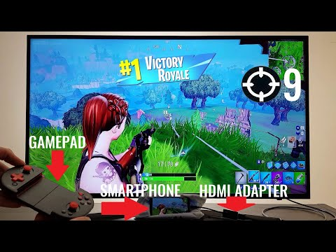 """fortnite-smartphone-hdmi-adapter-bluetooth-gamepad-50""""-tv-epic-graphics-mobile-android-ios-9-kills-!"""