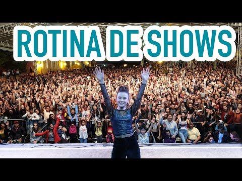 MINHA ROTINA EM DIA DE SHOW  Rafa Gomes