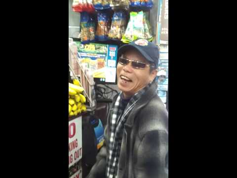 Funny Chinese Man upset he didn't win the lotto