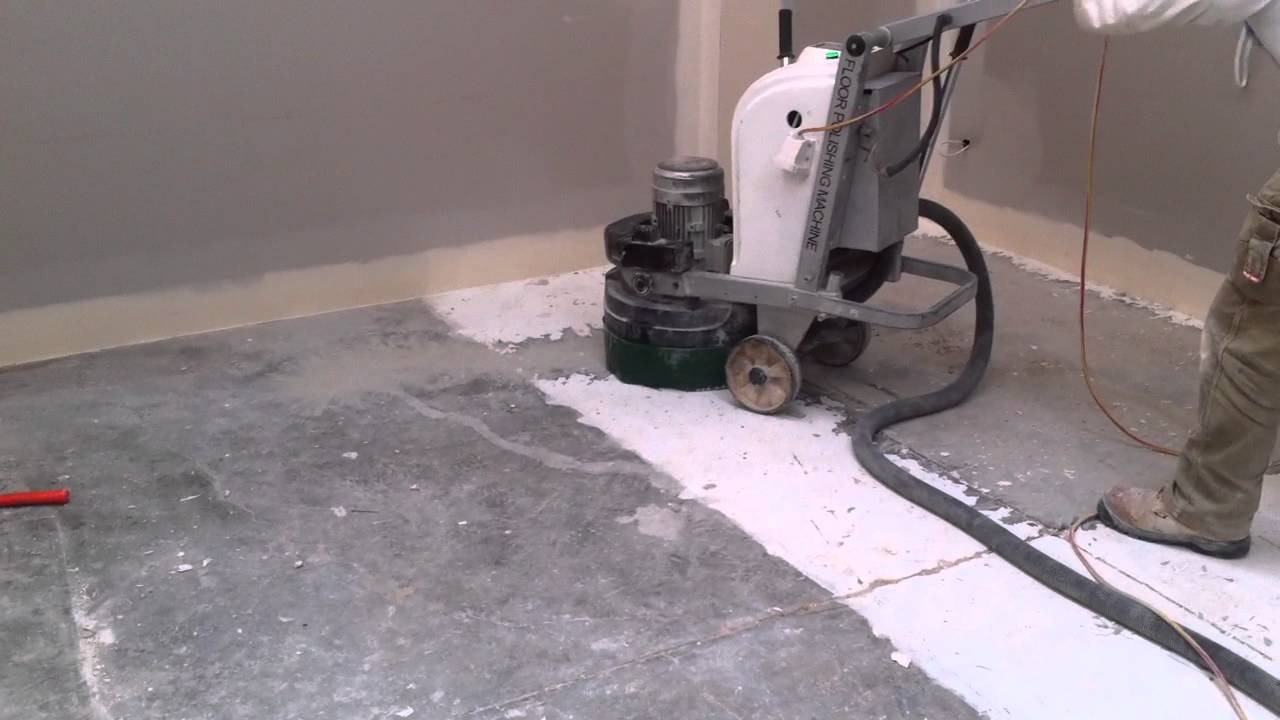 Paint Removal With Concrete Grinder Youtube