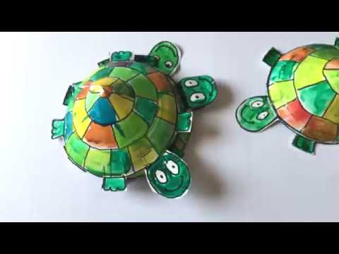 PAPER PLATE TURTLE CRAFT & PAPER PLATE TURTLE CRAFT - YouTube