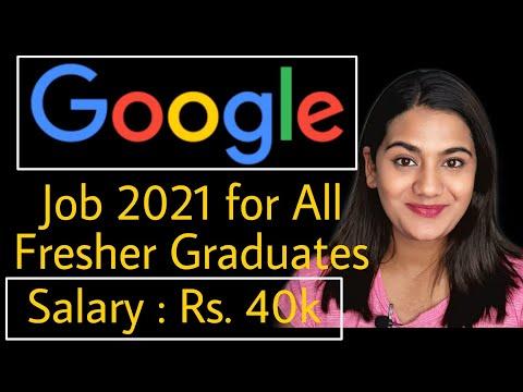 Google Recruitment 2021 for Fresher Graduates (Boys & Girls both)   Latest Job Vacancy for Freshers