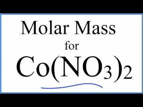 Molar Mass / Molecular Weight of Co(NO3)2: Cobalt (II) Nitrate