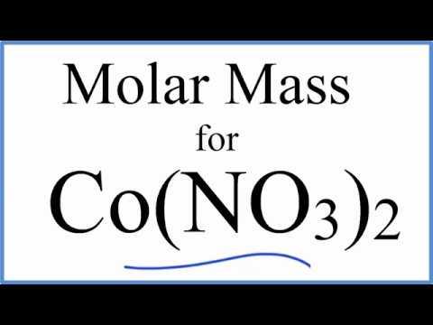 Molar Mass / Molecular Weight of Co(NO3)2: Cobalt (II) Nitrate