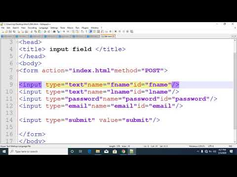 html css tutorial in bangla part 28 input field thumbnail