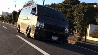 TOYOTA HIACE CustomCar in Japan.
