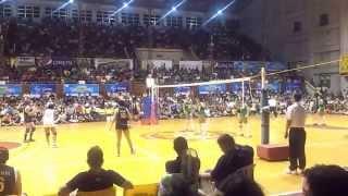 141028 unigames volleyball finals w dlsu nu set 1 2
