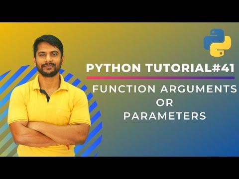 Python 3 Programming Tutorial - Function Parameters / Arguments thumbnail