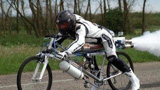 Самый быстрый в мире велосипед(Французский экстремал François Gissy совместно со швейцарской компанией Exotic Thermo Engineering сконструировал велосипед..., 2013-05-22T09:42:11.000Z)