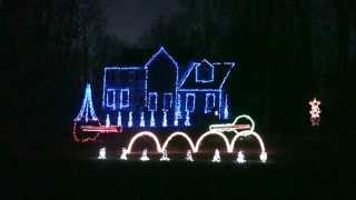 2013 Christmas Eve Sarajevo TSO Duane Brown Family Animated Christmas Light Show
