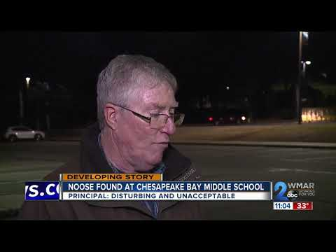School officials investigate another noose found at Chesapeake Bay Middle School