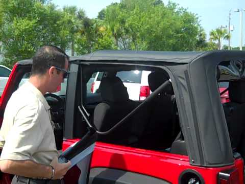 Jeep Wrangler Soft Top >> 2011 Jeep Wrangler soft top removal at Atlantic Dodge in St Augustine, Florida. - YouTube