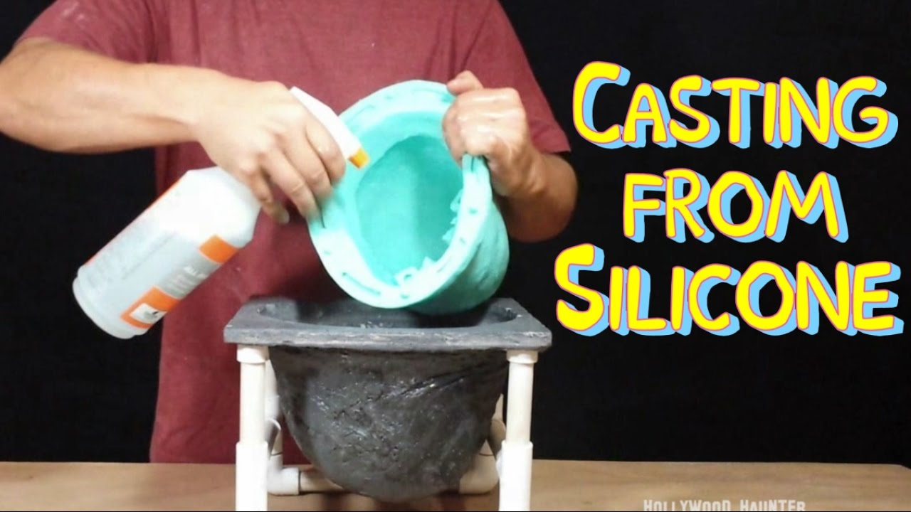 Mold Making Techniques - Molding & Casting From Silicone/Painting Plaster  Skull (Pt 5)