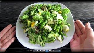 Легкий диетический салат на каждый день.Диетический овощной салат.