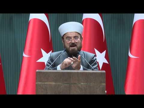 Müslüman Alimler Birliği Genel Sekreteri Prof. Dr. Ali Karadaği Cumhurbaşkanlığında konuşma yapıyor