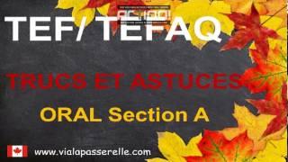 Examen TEF/TEFAQ Oral section A  Trucs et astuces - Préparation à l'immigration