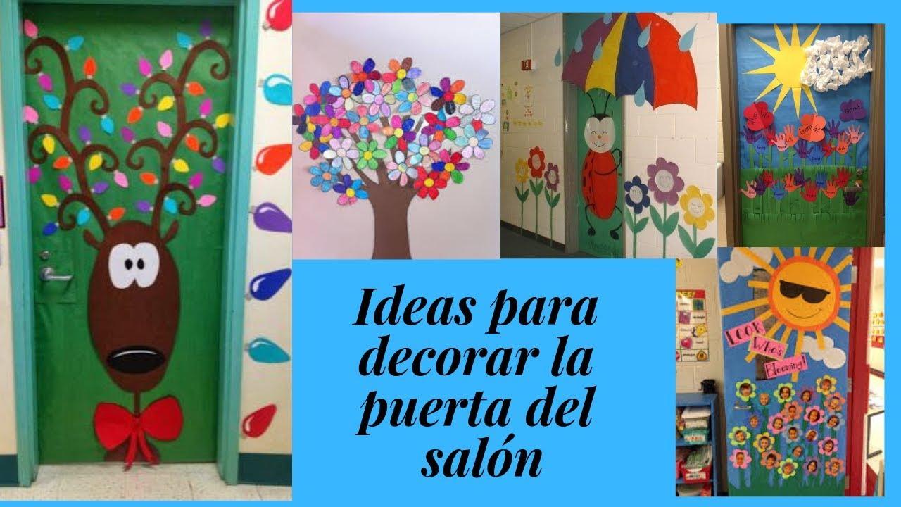 Ideas para decorar la puerta del sal n en primavera youtube for Ideas para decorar puertas