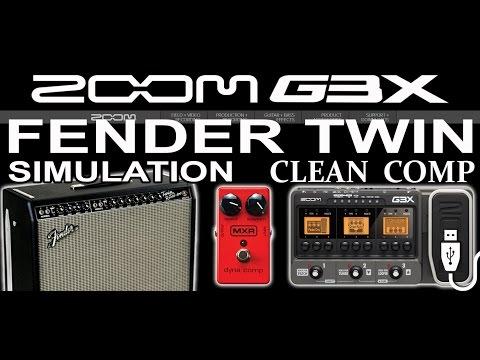 ZOOM G3 CLEAN Compressor, Strat And FENDER TWIN Amp Simulation. USB Rec.