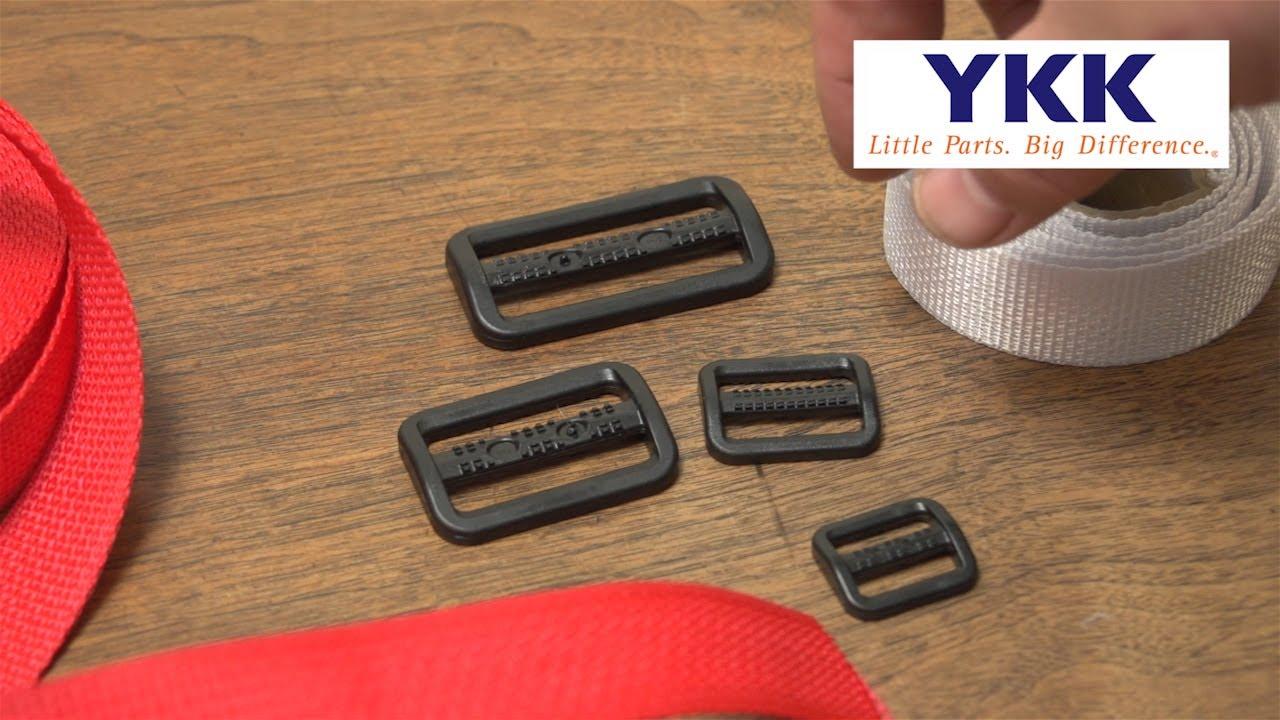 YKK® Tri-Bar Adjustable Webbing Slider Demo - YouTube
