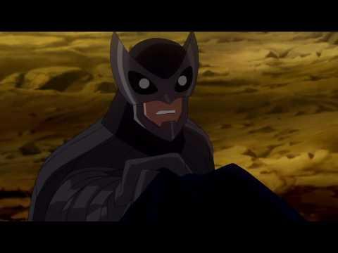 La liga de la justicia - Crisis en dos Tierras (Batman vs. Hombre buho)
