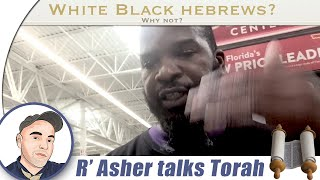 R' Asher speaks with a Black Hebrew Israelite (in walmart)