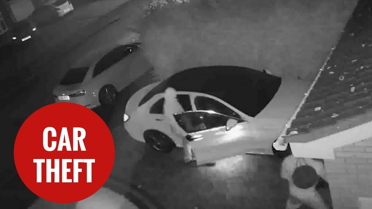 CCTV of thieves stealing a vehicle without the key by ...