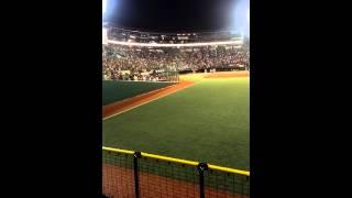 2014.10.04 コボスタ 楽天 vs オリックス 国歌斉唱 ベイビーレイズ 林愛夏.