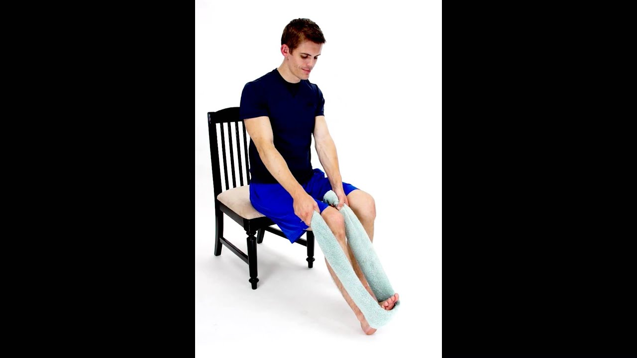 SEATED CALF STRETCH - SOLEUS -hep2go - YouTube