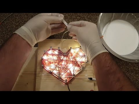 DIY Glowing Heart | Led Heart Decoration | Heart Lantern