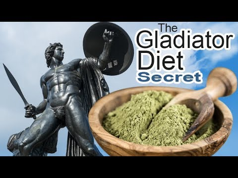 Gladiator Diet Secret- plant powder!  Green Formula for MINERALS