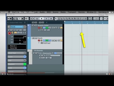 How to Record Audio in Cubase | Getting Started with Cubase 7