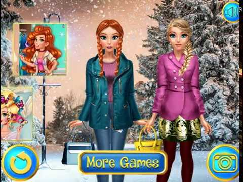Мультик игра Холодное сердце: Зимние наряды Эльзы и Анны (Sisters Day Out)