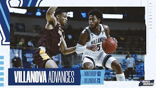Villanova survived a strong performance by an upset-minded winthrop to advance the second round, anchored game-high 22 points and 12 rebounds from jerem...