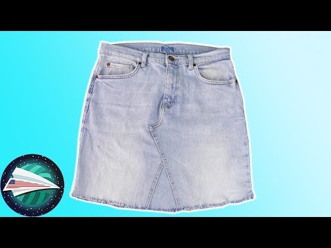 Upcycling Jeans | Jeans Skirt DIY | Old Jeans Projects | Sewing for Beginners