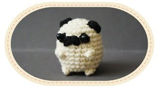 Вязаный мопс амигуруми. Crochet pug amigurumi.