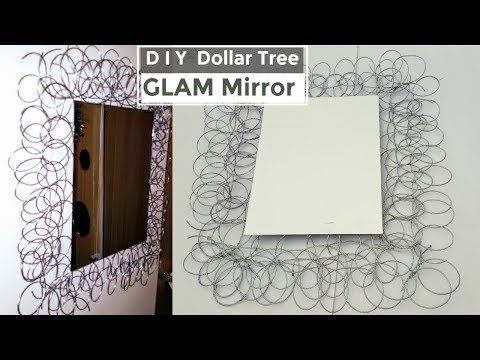 DIY Dollar Tree Mirror GLAM NEW 2018 (Home Decor)