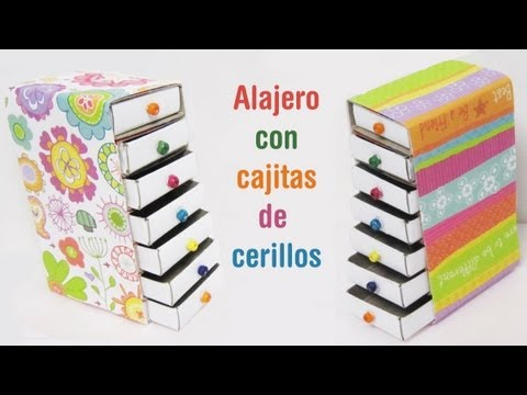 Episodio 645 c mo hacer un mini alajero con cajitas de for Products made out of waste