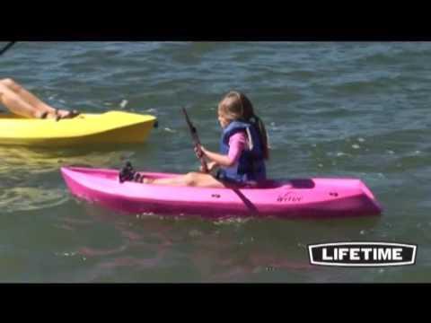 Lifetime 6 Ft Wave Youth Kayak W/Paddle (Pink) 90098 - YT