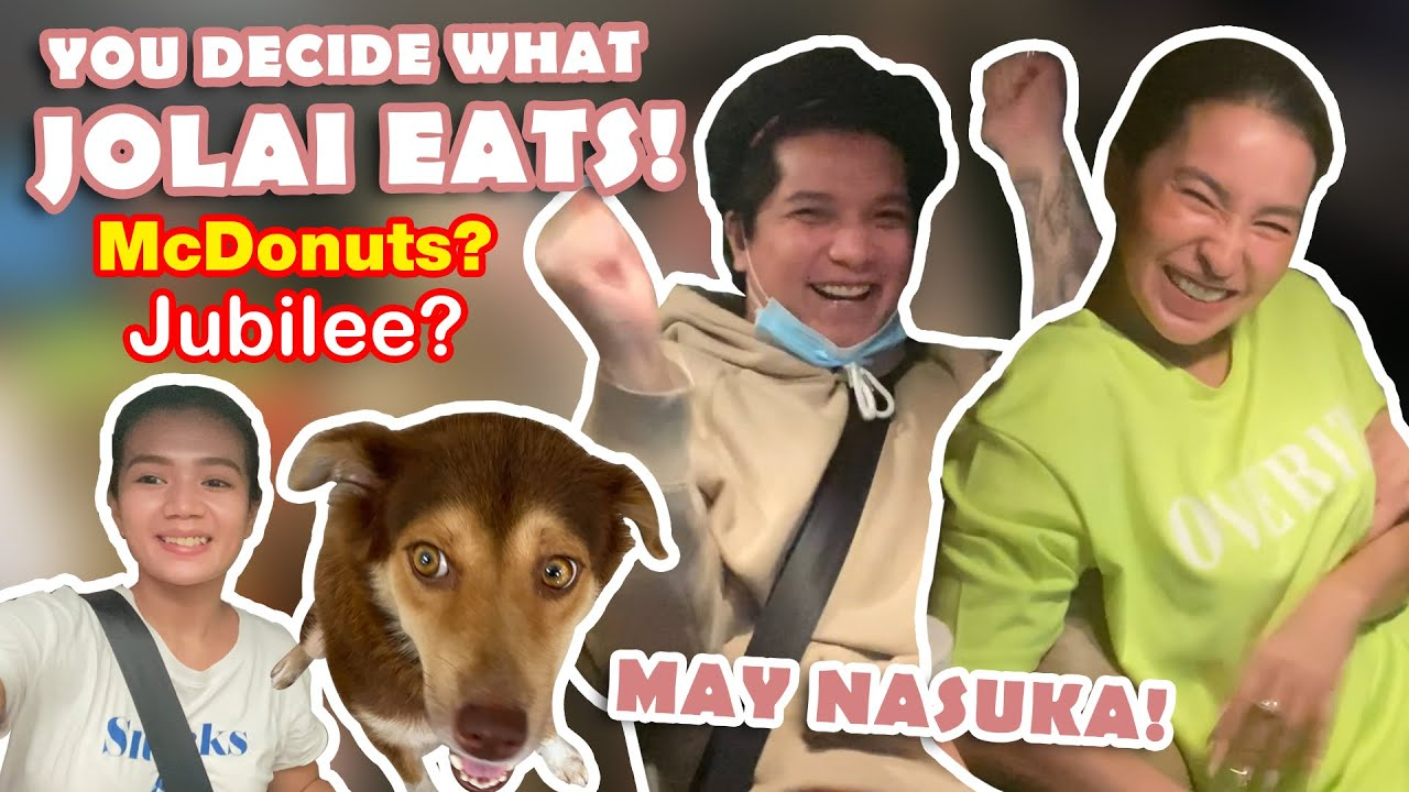 LET THE PERSON INFRONT OF US DECIDE WHAT WE EAT CHALLENGE W/A TWIST (BUDOL CHALLENGE)