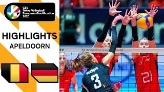 Belgium vs Germany Highlights CEV Women s Tokyo Volleyball Qualification 2020