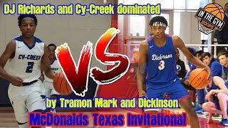 UH Commit Tramon Mark Drops 57 Pts in Dickinson's win vs Cy-Creek   McDonald's Texas Invitational