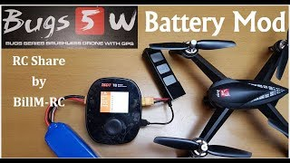 MJX Bugs 5W Battery Mod to use Hobby Grade Balance charger