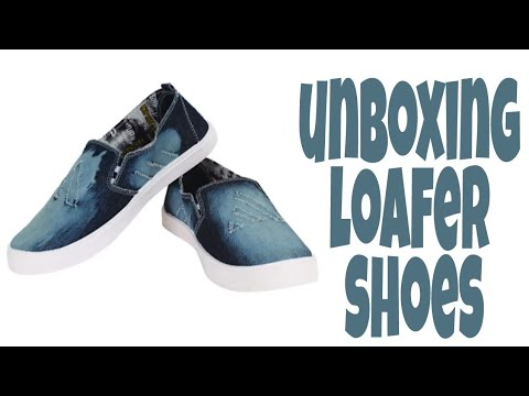 Unboxing loafer jeans shoes in hindi