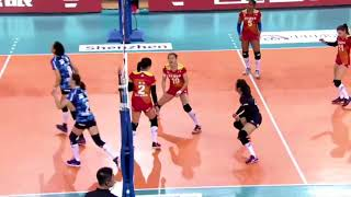 2017-2018 China Volleyball League 1st Stage YUAN Xinyue Block Highlights