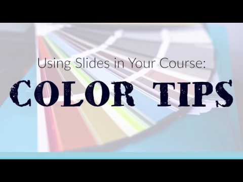 How to Create Slides for Your Online Course