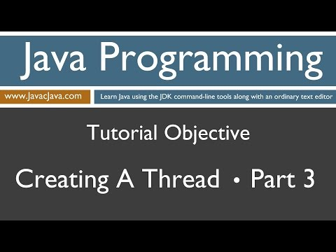 Learn Java Programming - Creating a Thread Part Three Tutorial