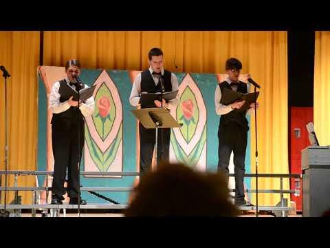 Bledsoe County High School (Men's Trio) singing Li'l Liza Jane
